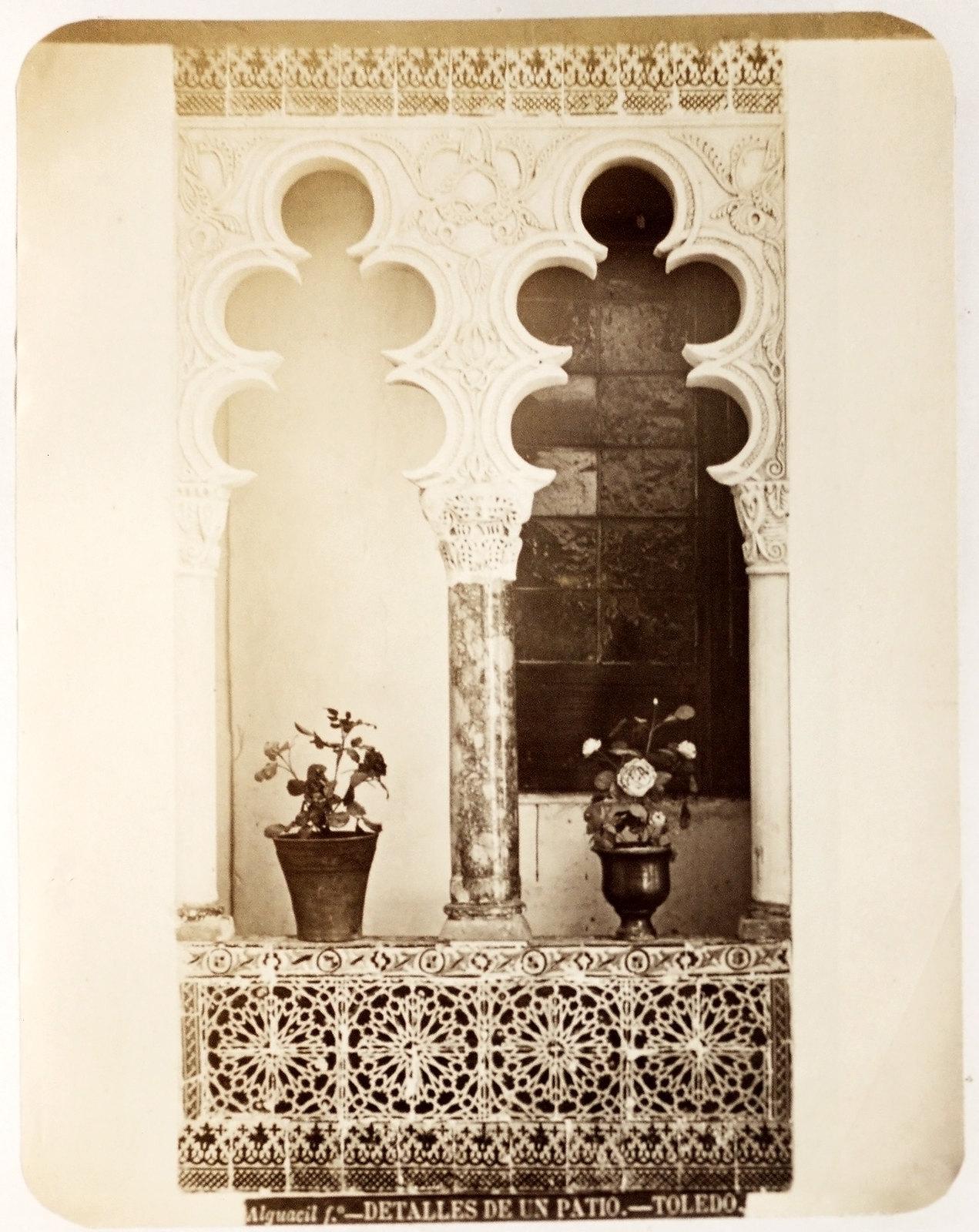 Una casa de la Calle Santa Úrsula en Toledo hacia 1879. Álbum de la National Gallery con fotos de Casiano Alguacil.