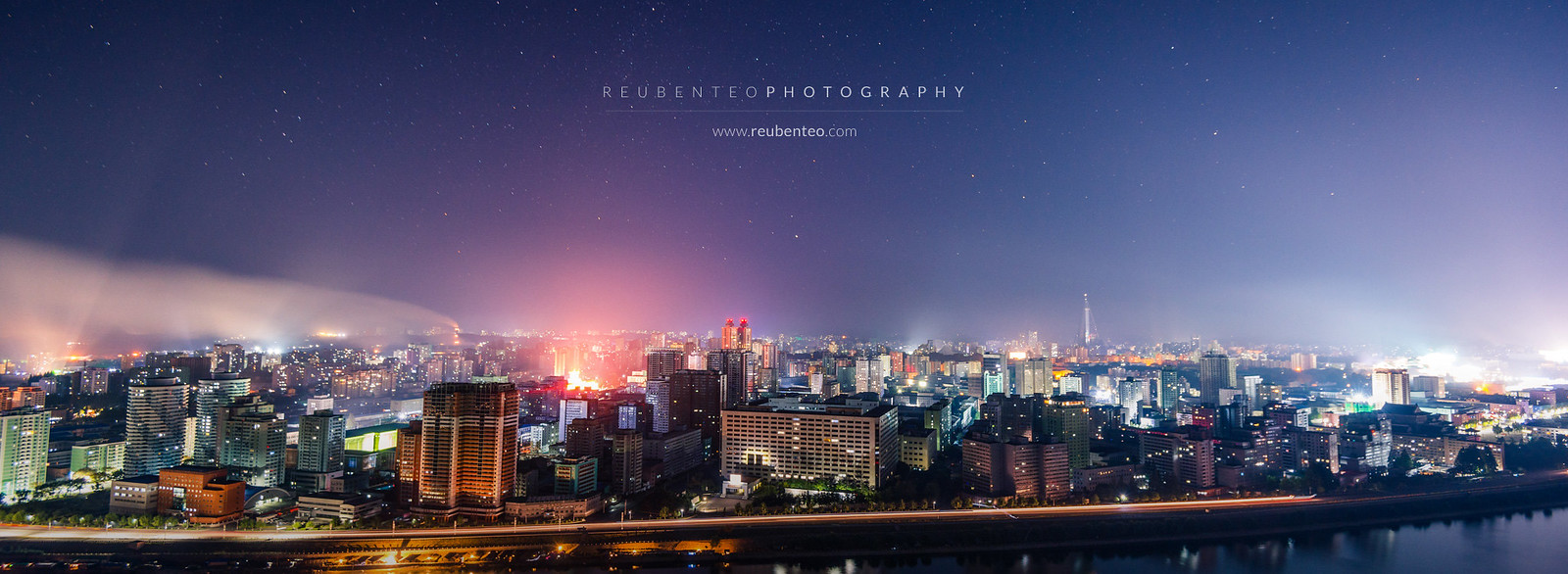 Night Sky and Stars in Pyongyang City