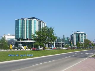 Milentija Popovica street, New Belgrade, Belgrade, Serbia, April 2004