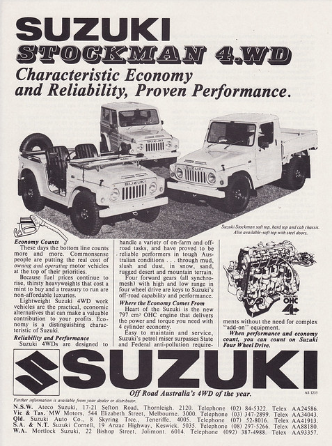 1979 Suzuki Stockman 4WD Ad - Australia