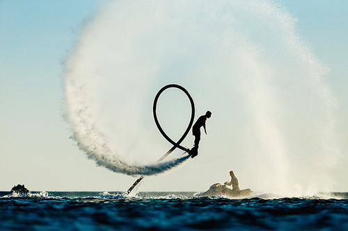 Flyboarding in the Okanagan Valley, British Columbia