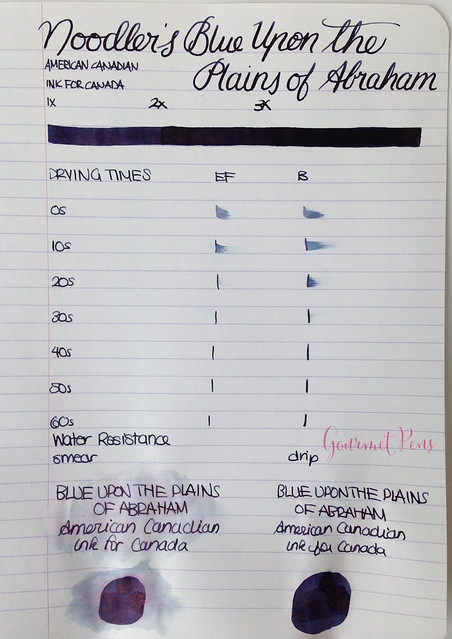 Ink Shot Review Noodler's Blue Upon The Plains of Abraham @CarolLuxury (4)