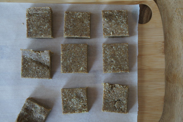 Raw seed squares