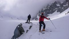 Zjazd lodowcem Vedretta di Scerscen - Piotr.
