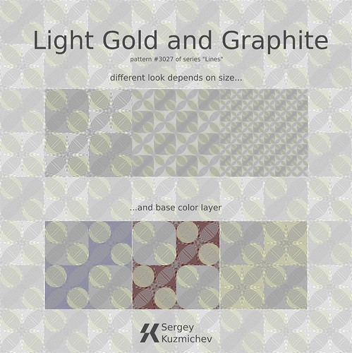 pattern Light Golg and Graphite #3027