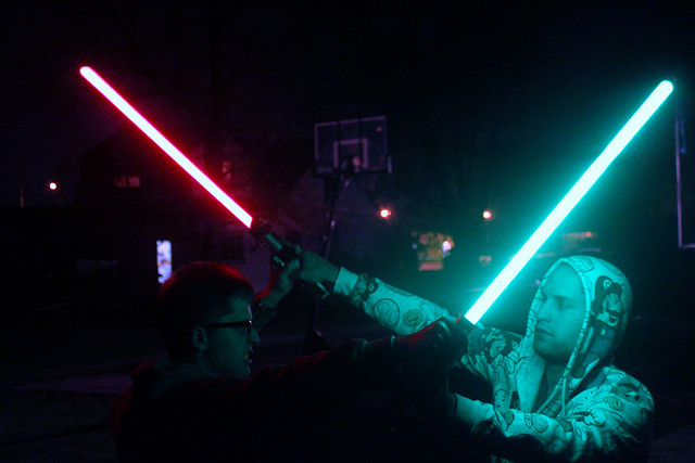 A Jedi stand off