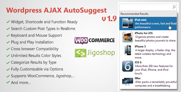 Codecanyon WordPress AJAX Search & AutoSuggest Plugin v1.9.4