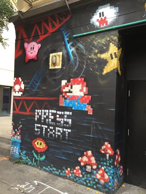 Mario street art