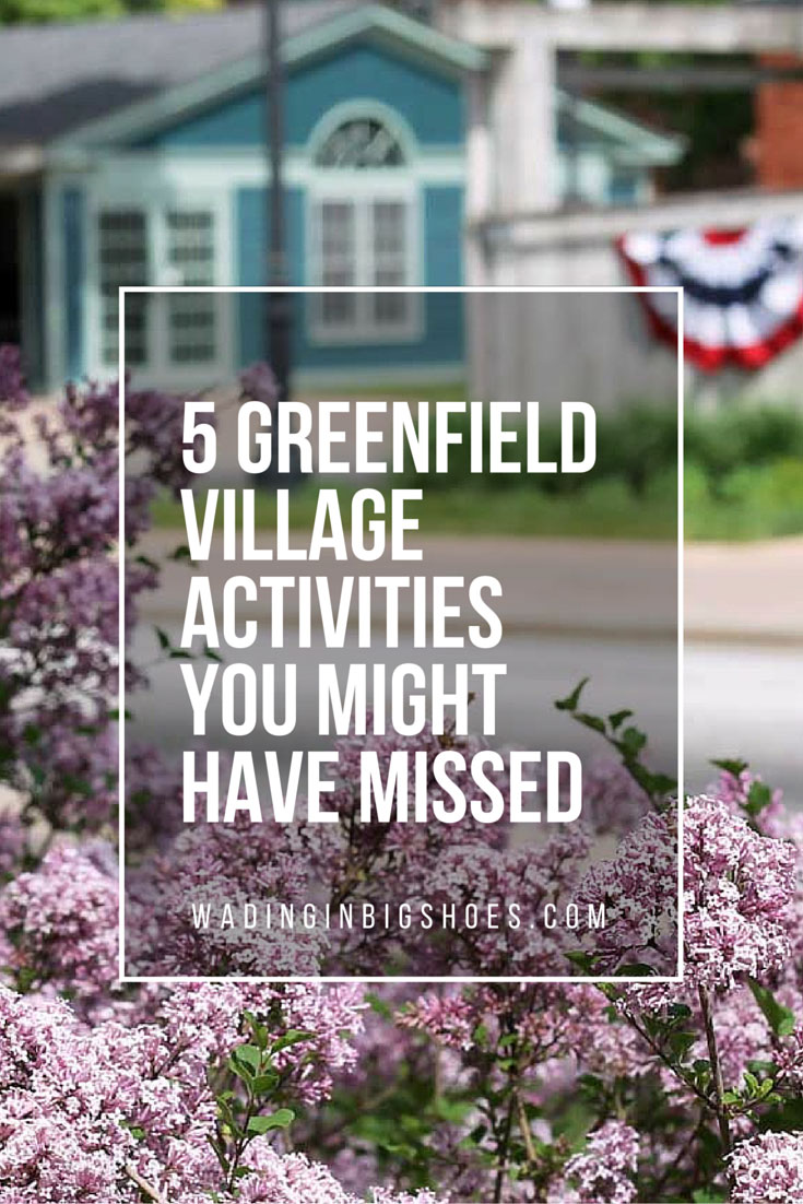 5 Greenfield Village Activities You Might Have Missed-Wading in Big Shoes