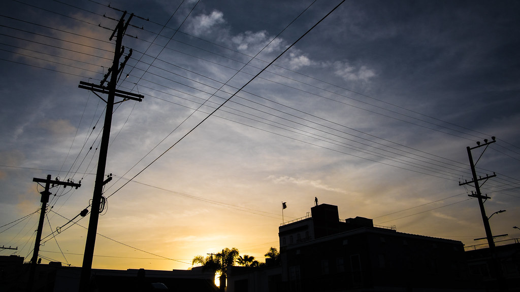 Sunset in Venice beach, Los Angeles, United States picture