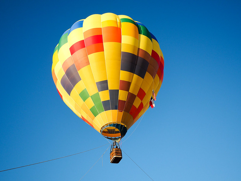 Hot air ballooning in Longview, Texas