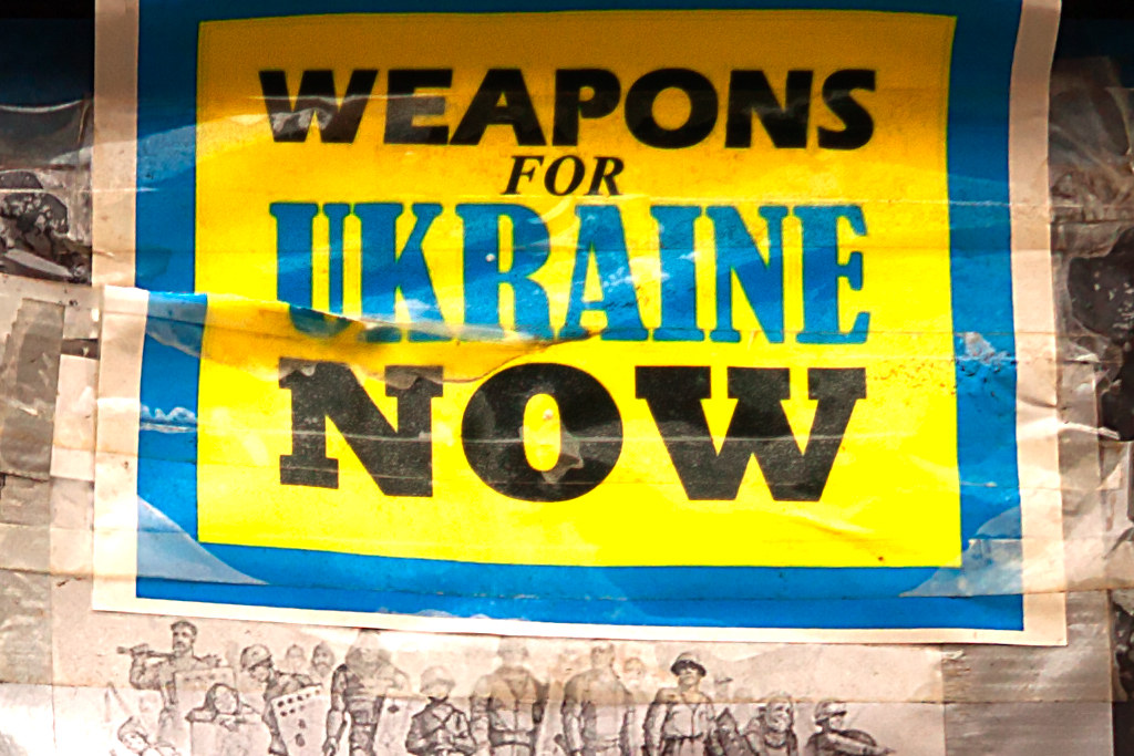WEAPONS FOR UKRAINE NOW--St. Mark's Place, New York (detail)