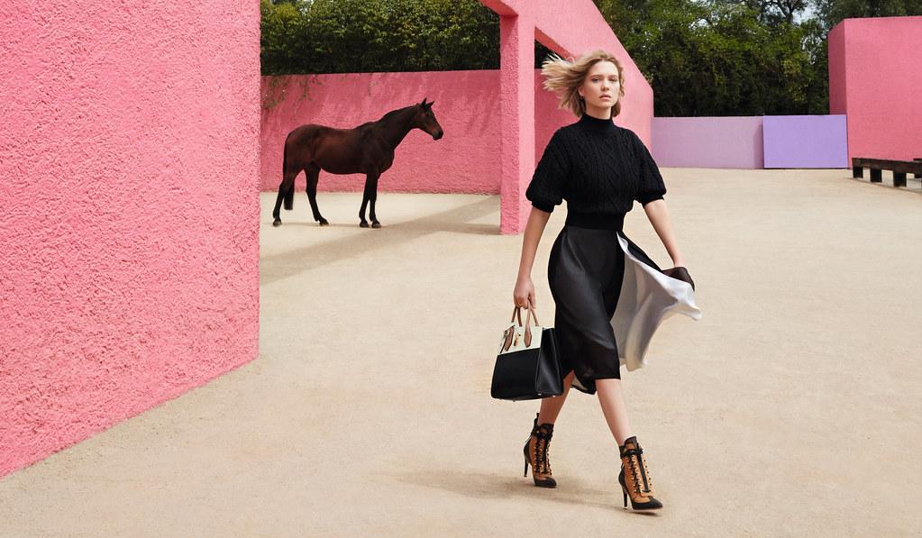 Леа Сейду — Фотосессия для «Louis Vuitton» ST 2016 – 1