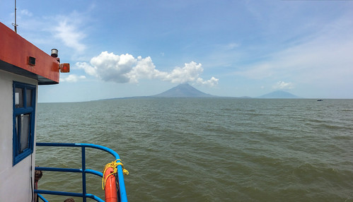 Isla de Ometepe: depuis le ferry