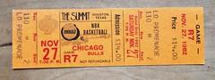 NBA Ticket : Houston Rockets vs Chicago Bulls at the Houston Summit Saturday, November 27, 1982