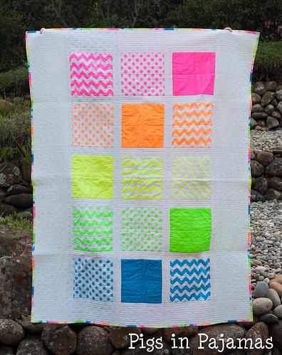 Neon quilt front