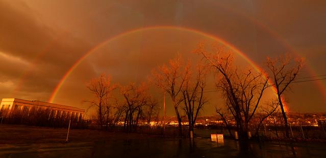 Double Rainbow over Green Island NY