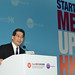 The Secretary for Commerce and Economic Development, Mr Gregory So, gives a speech at the StartmeupHK Venture Forum 2016 商務及經濟發展局局長蘇錦樑於2016 StartmeupHK創業論壇上致詞