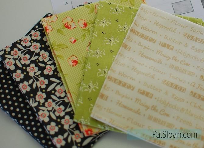 pat sloan 2016 Aurifil block 1 fabrics used