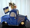 Little Blue truck cake - side view