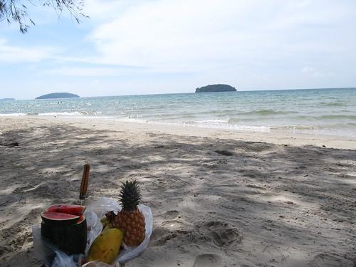 Sihanoukville: notre repas de midi quotidien à Otres Beach