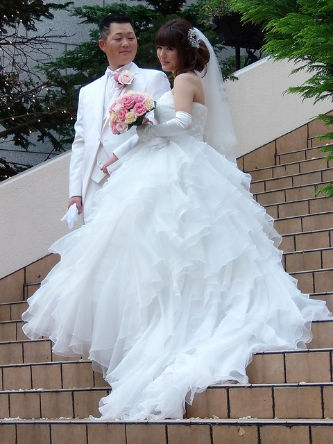 Photo:#6806 wedding couple (新郎新婦) By Nemo's great uncle