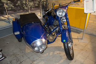 1967 Jawa 360 motorcycle with sidecar