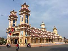 Grand Temple at Cao Dai Holy See in Tay Ninh