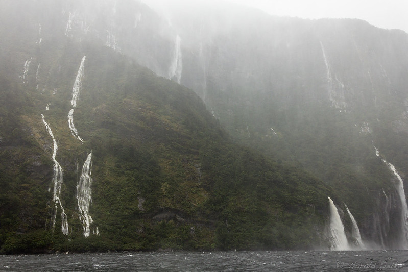 Waterfalls in Heavy Rain
