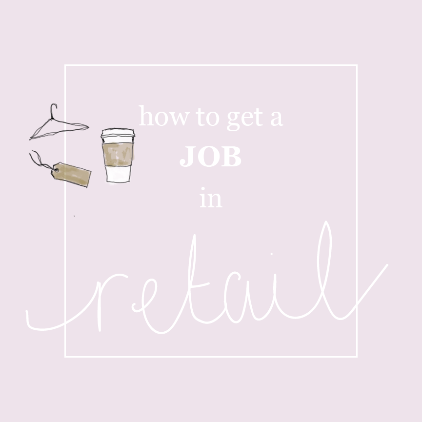 how to get a job in retail - square graphic
