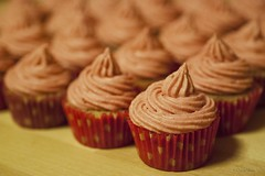 Raspberry cupcakes with raspberry cream cheese frosting