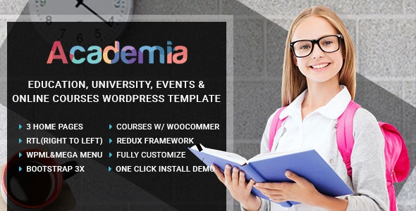 Academia v1.14 - Education Center WordPress Theme