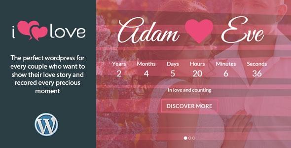 Themeforest ilove v4.0 – Responsive Wedding Event WordPress Theme