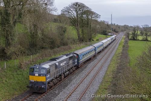 IE 077 Waterford-Kilkenny IRRS '071 Class Railtour', Ballyhale