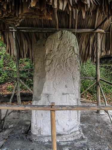 Tikal: stèle de l'Acropole Nord