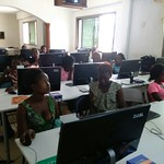 girls-learning-- computer-training-at-centre