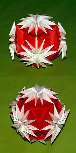 Origami Chrysanthemum Ball (Yasuko Suyama)