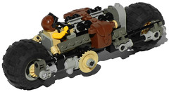 """""""Zebra"""" Heavy Diesel Motorcycle Mk. X (rear)"""