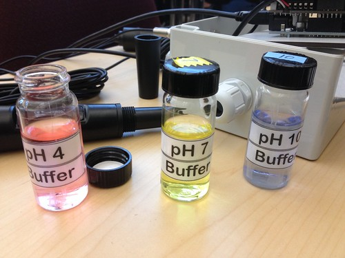 Solutions of known pH for aquaponics sensor calibration