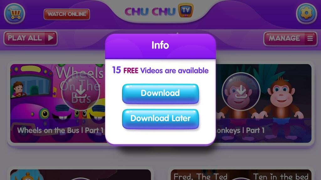 Nursery Rhymes by ChuChu TV App - Three Different Directions