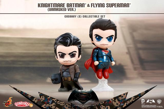 Hot Toys – Cosbaby 系列【超人 vs. 噩夢蝙蝠俠雙人組合包】蝙蝠俠對超人:正義曙光