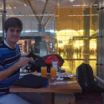 Desayunando en el aeropuerto