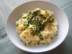 Dorie Greenspan's Cheesy Rice with Asparagus