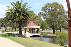 Rose Garden, Kernot Lake, Town commons or pirate Park.