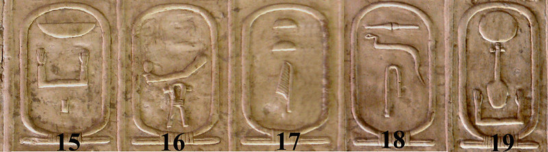 Third Dynasty on Abydos King List; Cartouche of Nebka is the first in the list