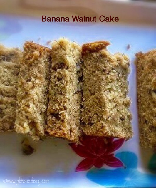 Recipe For Banana Walnut Cake Eggless