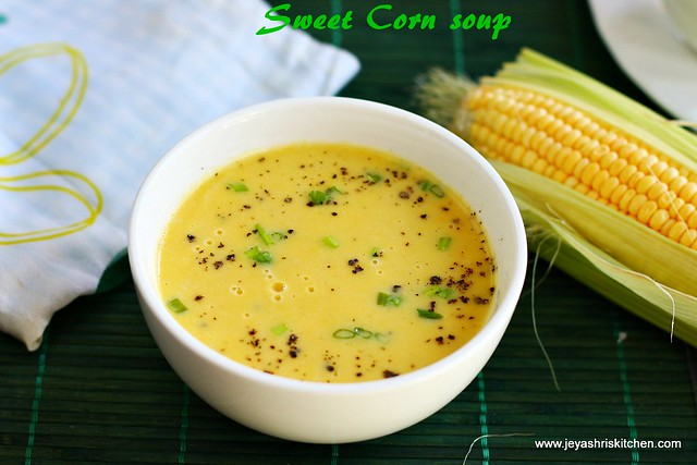 Cream of sweet corn soup