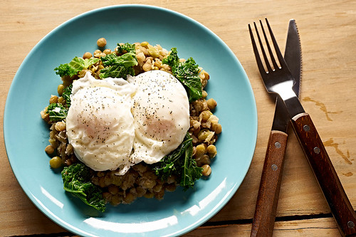 Food Photography | Eggs Kale and Lentils