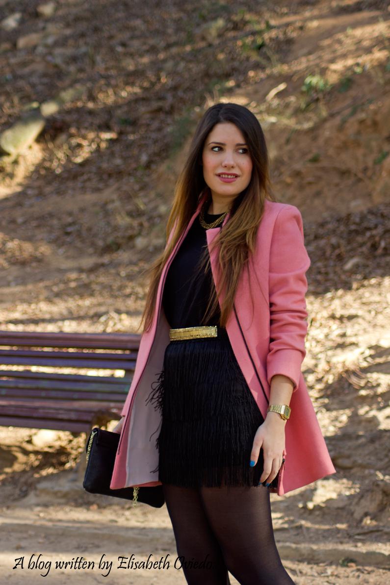 abrigo rosa ZARA falda bershka botines MARYPAZ HEELSANDROSES (4)