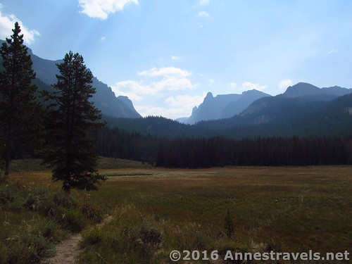 Walking through the meadow, Slide Lake Trail, Wind River Range, Wyoming